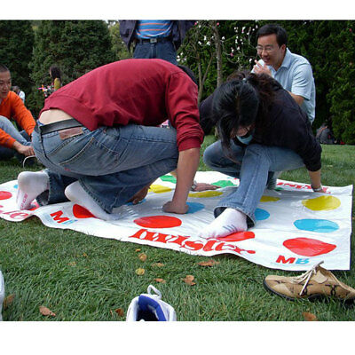 Funny Kids Body Twister Moves Mat Board Game Group Party Outdoor Toy Gift