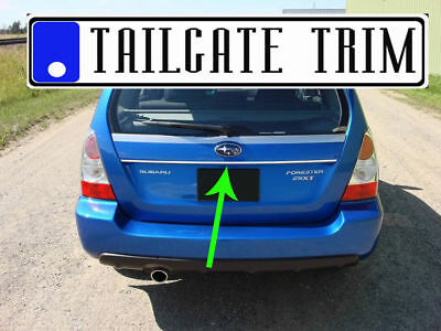 Fit SUBARUmodels 2004-2019 Tailgate TRUNK Trim Molding CHROME Style