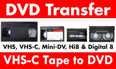 Transfer / Copy Your VHS-c Video Tape's to DVD or MP4 -  Fast Reliable Service