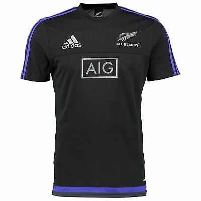 adidas ALL BLACKS TRAINING TEE NEW ZEALAND T SHIRT RUGBY UNION WORLD CUP NEW