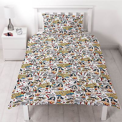 c1e6c29398f Wonder Woman Dc Comics Power Single Duvet Set Quilt Cover Childrens Kids  Bedding