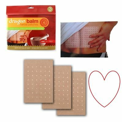 Pain Relief Patches herbal back plasters Dragon balm deep heat aromatic remedy