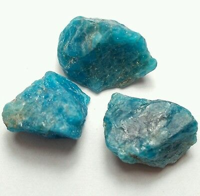 Natural Rough Blue Neon Apatite Lot 75,00 Cts.