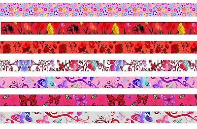 PINK FLOWERS BUTTERFLIES Quality Satin LANYARD NECK STRAP for mobile id keys mp3