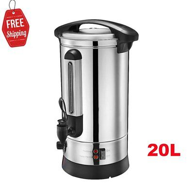 20L Tea Urn Electric Catering Hot Water Boiler Coffee Stainless Steel Machine UK