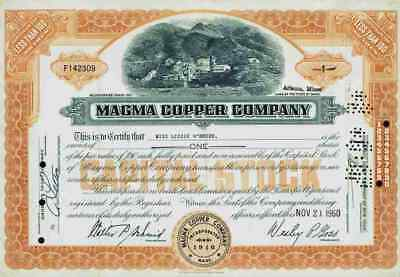 Magma Copper Company 1960 Maine Superior Webster Newmont Mining Ely Nevada 1 Sha