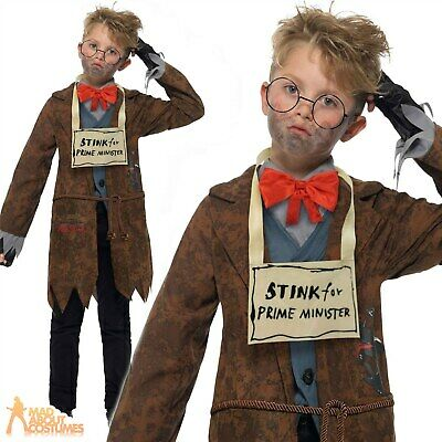 Child Deluxe Mr Stink Costume David Walliams Book Week Day Fancy Dress Outfit