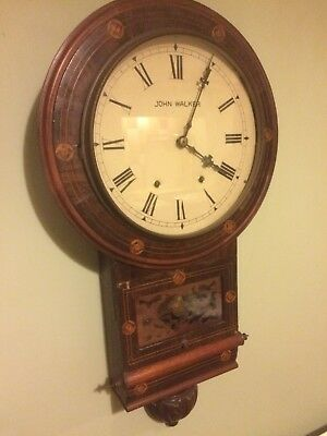 Antique 1/2 And Hour Striking Wall Clock . John Walker
