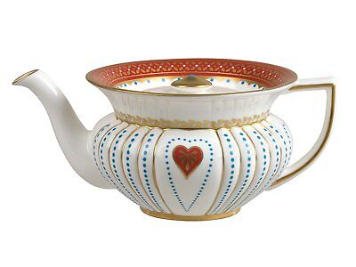 Like NEW IN BOX Collectors WEDGWOOD Harlequin Collection QUEEN OF HEARTS Teapot