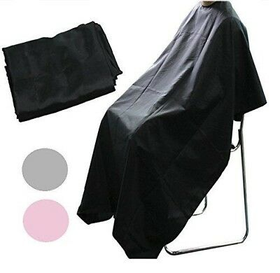 Unisex Black Hair Salon Hairdressing Cutting Cape Cover Barbers Gown