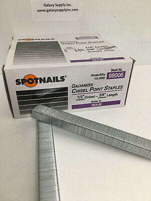 Spotnails 98006 80 Series Staples 3/8 Leg,sale by 7 boxes/ctn, $7.89 each box