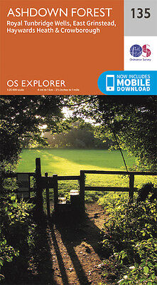 Ashdown Forest Explorer Map 135 - OS - Ordnance Survey