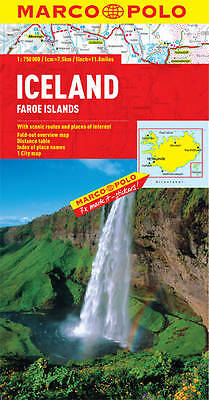 Iceland Marco Polo Map  New 2016 - Faroe Islands - Zoom System - Reykjavik Map
