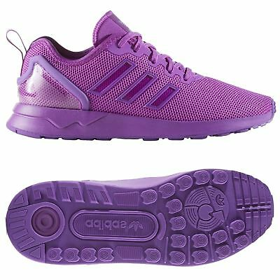 adidas ORIGINALS ZX FLUX ADV JUNIOR TRAINERS PURPLE WOMEN'S FITNESS RUNNING NEW