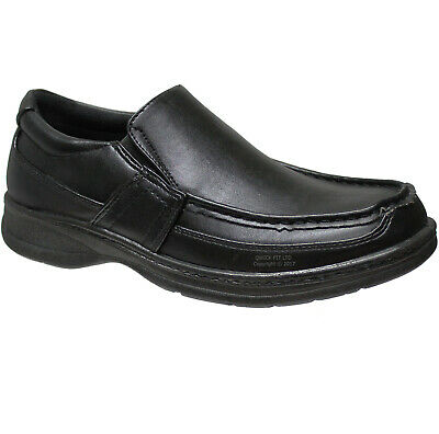 New Mens Comfort Xtra Padded Slip On Shoes Formal Black Dress Office Work Casual