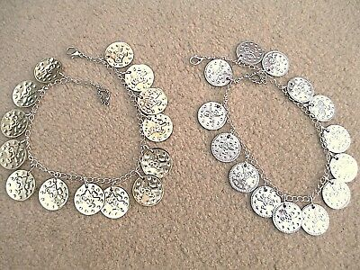 Belly Dance Ankle Or Bracelet.lots Gold Or Silver Real Belly Dancing Coins. New