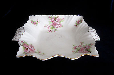 James Kent Fenton Apple Blossom Square Handled Dish - #1645- 7.5 in - England