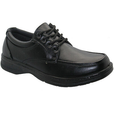 New Mens Comfort Shoes Padded Lace Up Formal Black Dress Office Work Casual Shoe