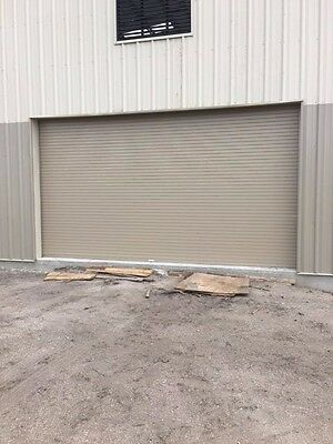 insulated roll up overhead garage door 12 feet wide x 12 feet high RV 7.6