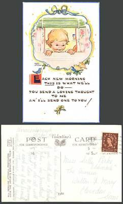 MABEL LUCIE ATTWELL 1956 Old Postcard Send Loving Thought to Me & You Birds 5362
