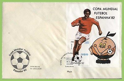 Cape Verde 1982 Spain World Cup Football, miniature sheet First Day Cover
