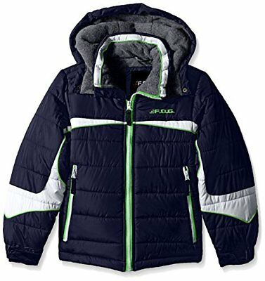 Pacific Trail Big Boys Colorblock Puffer Jacket, Turquoise, 14/16