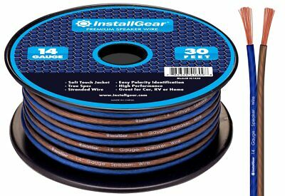 Speaker Wire True Spec and Soft Touch Cable High quality 14 Gauge AWG 30ft