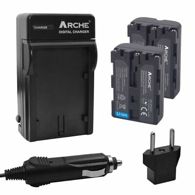 ARCHE x2 Battery+Charger for Sony NP-FM500H Alpha SLT-A57 A58 A65V A77V A99V