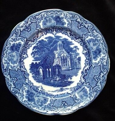 George Jones and Sons Abbey 1790 Blue and White Side Plate