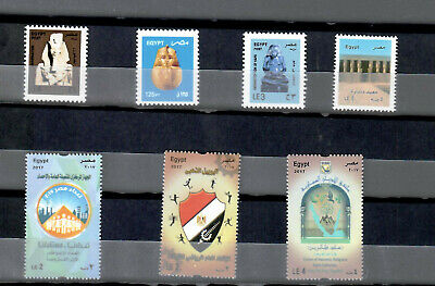 """Egypt,Ägypten, Egipto """"MNH"""" Every Stamp 2017 Complete Year Set مصر"""
