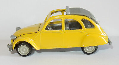 Old Norev Jet Car Made In France 1985 Citroen 2Cv 1974/1981 Jaune 1/43 Ref 720Nd