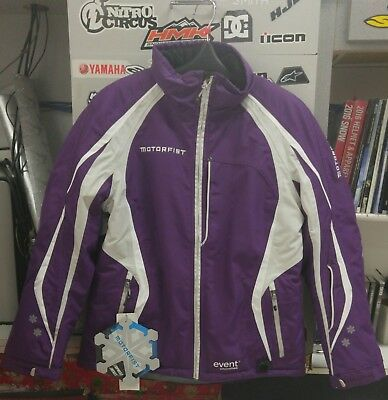 Women's Motorfist Empress Jacket Plum/Grey/White - Large (20590-5516)