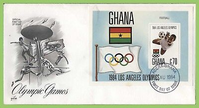Ghana 1984 Los Angeles Olympic Games m/s First Day Cover