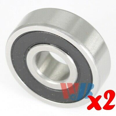 2pc Miniature Ball Bearing 4x13x5mm WJB 624-2RS with 2 Rubber Seals