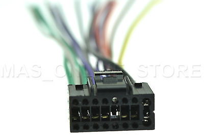 wire harness for jvc kd r900 kdr900 pay today ships today 4 50 rh picclick com JVC Wiring Harness Diagram JVC KD S26 Wiring Harness