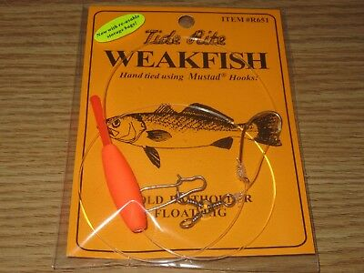 24 Weakfish Sea Trout Tide Rite R651 Baitholder Float Rig  Fishing Mustad Hooks