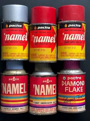 REDUCED- lot of 7 vintage Pactra 'Namel &Testors spray paint cans