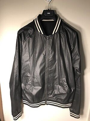 Band of Outsiders Black Waxed Cotton Jacket Size M