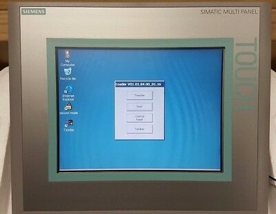 "Siemens 6Av6643-0Cd01-1Ax1 Mp277 10"" - Hmi - 6Av6 643-0Cd01-1Ax1 Op W/ Warranty!"