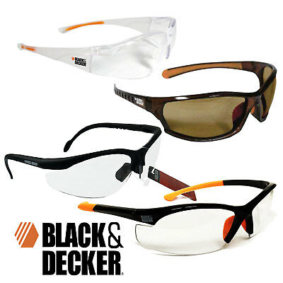 Black & Decker Safety Glasses -  Eyewear Eye Protection - Work Goggles  7 Styles