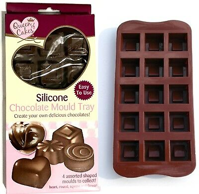 Silicone Chocolate Mould Tray Square Munchie