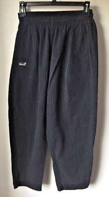 Chefwear Traditional Chef Pants Baggy Black Gray Pinstripe Size Large 3000 FLAW