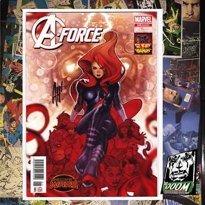 A-FORCE #1 MEDUSA marvel comics mexico variant signed  Adam Hughes