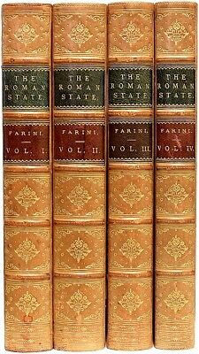 Luigi FARINI - The Roman State, from 1815 to 1850 - 4 vols. - IN A FINE BINDING