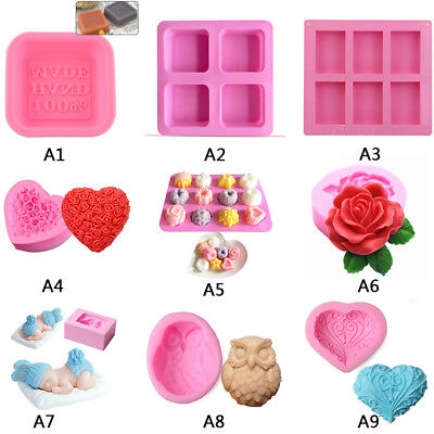 Silicone Ice Cube Candy Chocolate Cake Cookie Cupcake Soap Molds Mould DIY