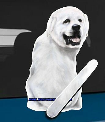 Great Pyrenees Dog and Animal rear window wiper sticker - 10 inches tall