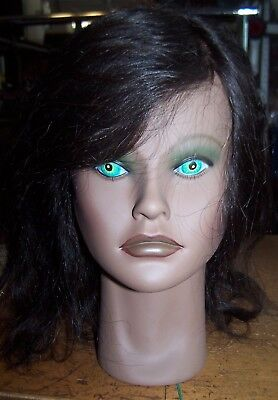"Clic Cosmetology School Mannequin Head ""angel"" 100% Human Hair"