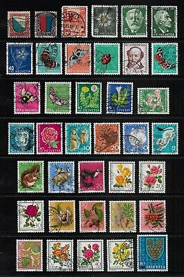 SWITZERLAND 1920-1979 Pro Juventute, Childrens Charity stamps, used