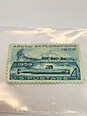 USA 04 Cents, Arctic Exploration 1909, 1959, US Postage Issue Date April 6, 1959