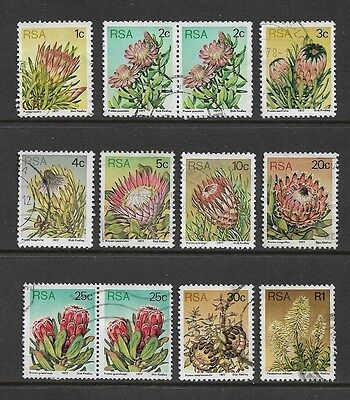 SOUTH AFRICA 1977 Succulents, Flowers, Proteas, used